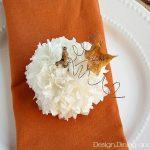 Thanksgiving Place Card Idea-Tissue Paper Pumpking Tutorial via @Tarynatddd