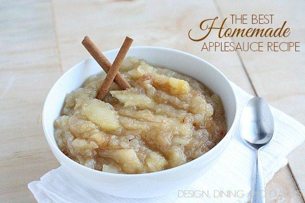 The Best Homemade Applesauce Recipe via @tarynatddd