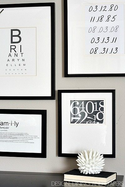 Black and White Gallery Wall with FREE Printables by @tarynatddd
