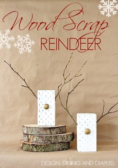 DIY Wooden Reindeer made from wood scraps! A fun, modern take on Christmas decor. via @tarynatddd