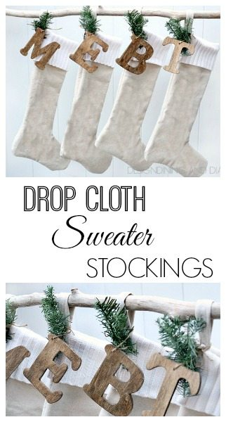 Drop Cloth Sweater Stockings!