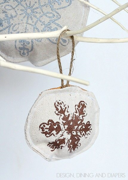 Handmade Drop Cloth Ornaments 7