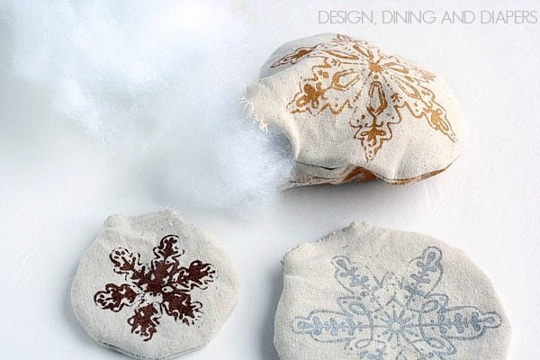 Handmade Drop Cloth Ornaments For Kids 3