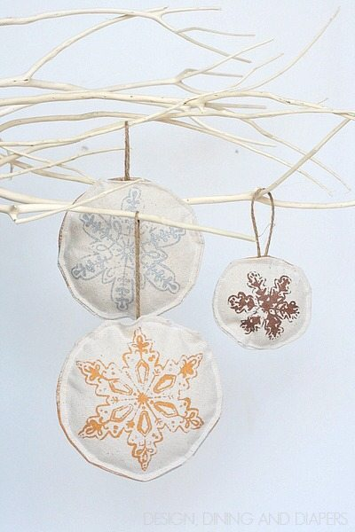 Handmade Drop Cloth Ornaments For Kids 8