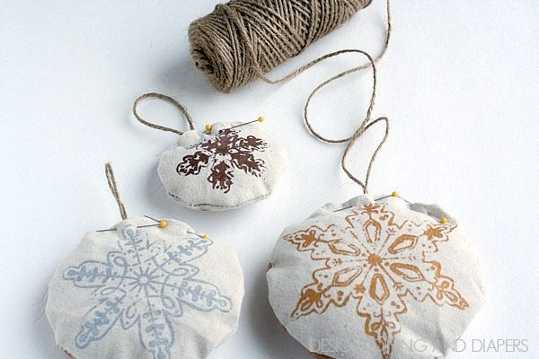 Handmade Drop Cloth Ornaments for Kids 4