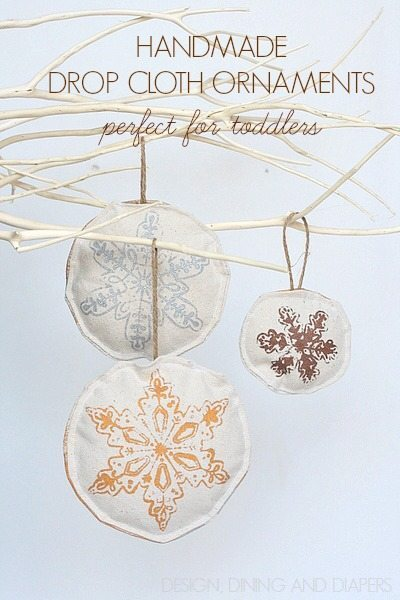 Handmade Ornaments For Toddlers - Use a stencil on one side and free hand on the other!