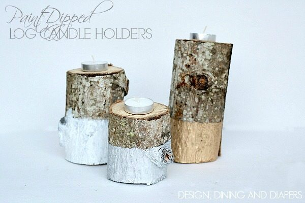 Paint Dipped Candle Holders via @tarynatddd 2