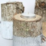 Paint Dipped Log Candle Holders