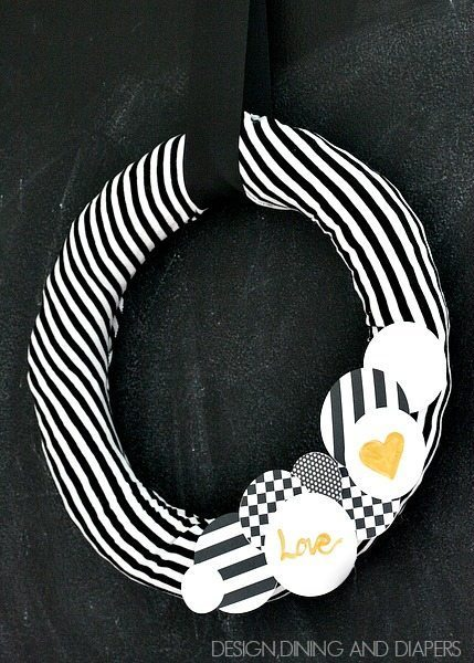 A completely different take on a Valentine's Day Wreath! via designdininganddiapers.com