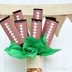 Football Candy Bar Bouquet
