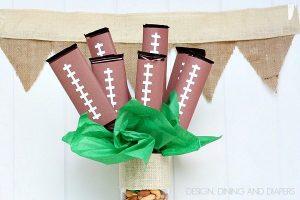 Football Candy Bar Bouquet