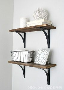 Rustic DIY Bathroom Shelving