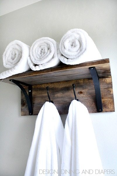 DIY Towel Organizer!