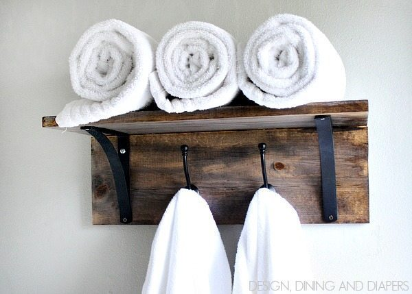 DIY Towel Organizer! Love this idea. via @tarynatddd