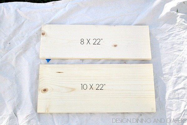 DIY Towel Rack Wood Pieces