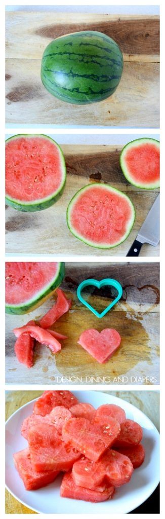 Heart Shaped Watermelon! So fun for kids! via @tarynatddd