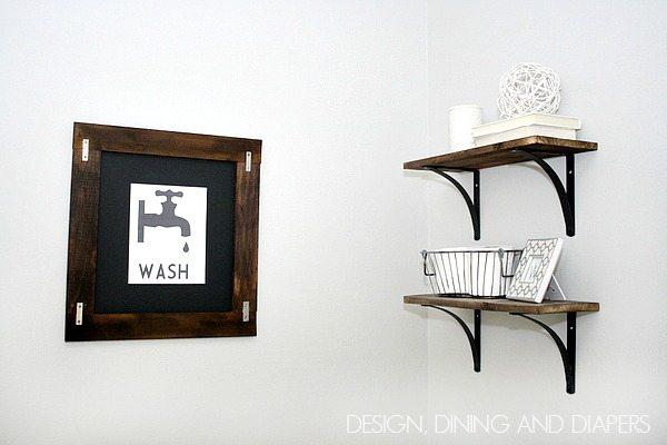 Vintage Modern Bathroom via designdininganddiapers.com