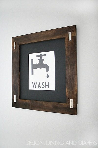 Wash - Free Printable from Design, Dining and Diapers