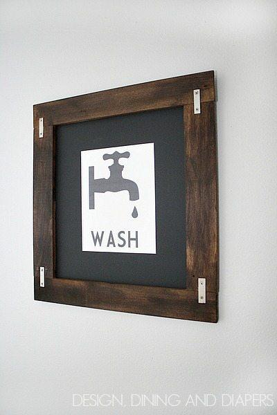 Vintage Wash Printable! via designdininganddiapers.com