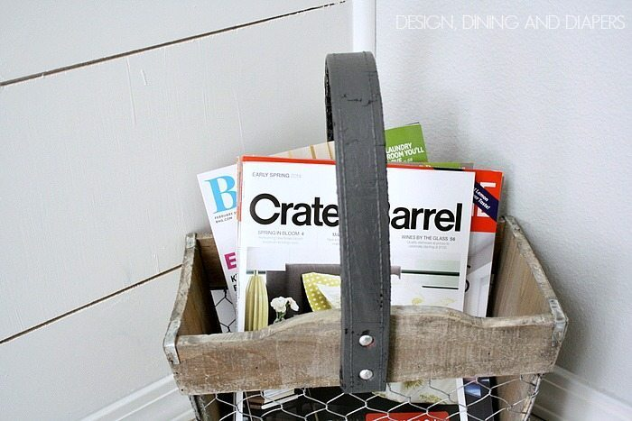 Cute magazine basket!