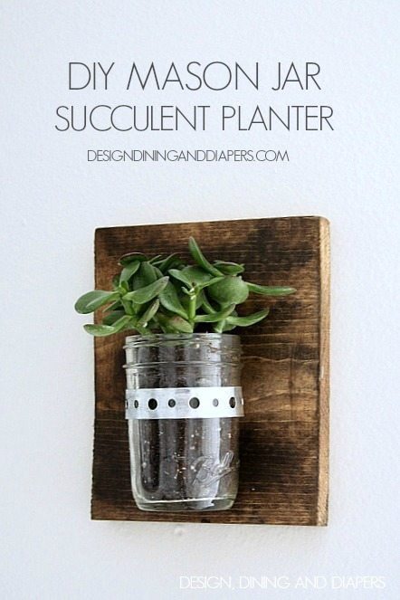 DIY Industrial Succulent Holder