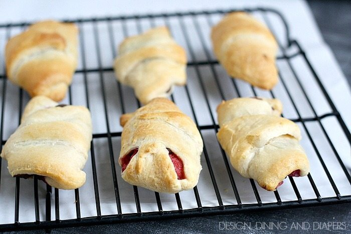 Ghirardelli & Raspberry Filled Crescents. Yum!