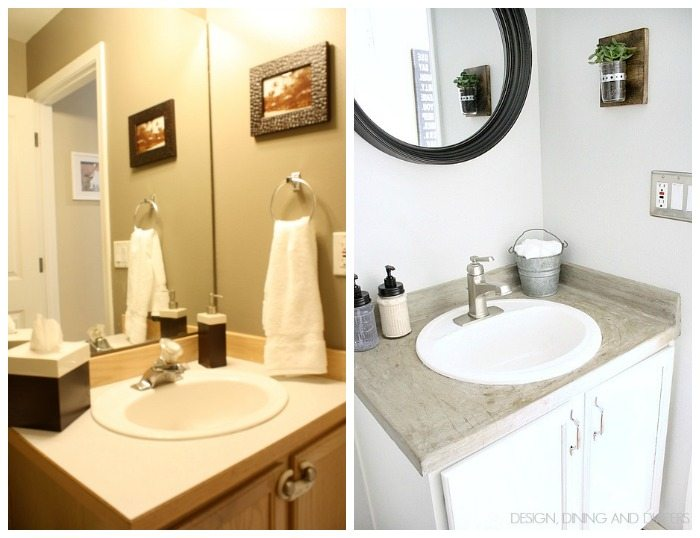 Half-Bath Makeover Before and After 1