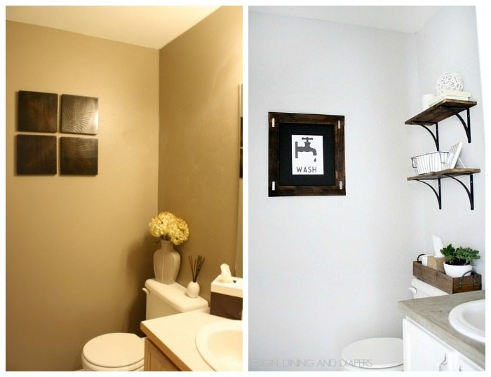 Half-Bath Makeover Before and After 2