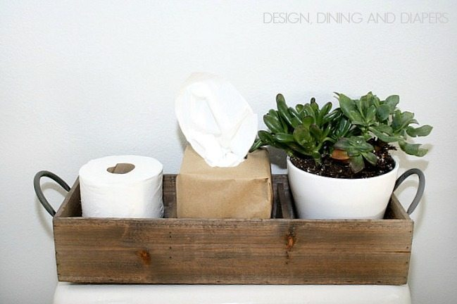 Modern Farmhouse Bathroom Decor via designdininganddiapers.com