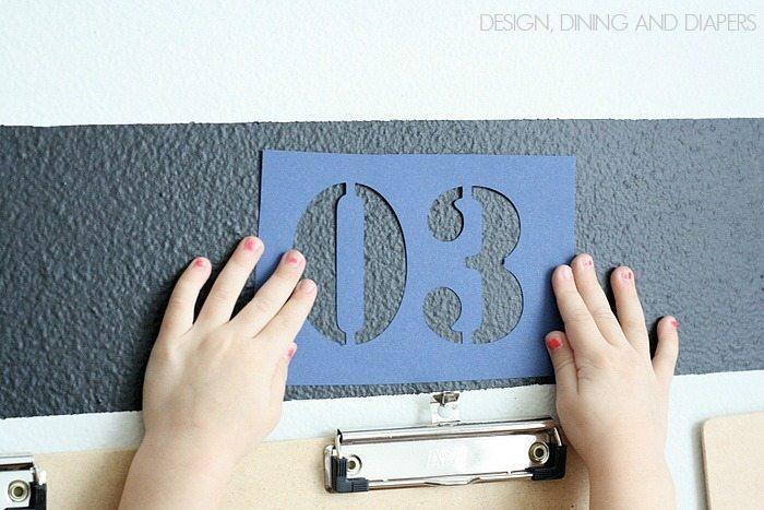 Number Stencil