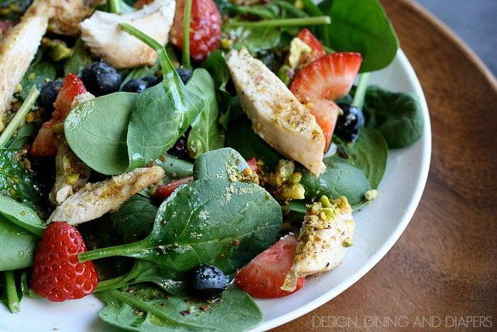 Pistachio Chicken Salad via designdininganddiapers.com