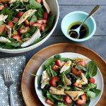 Pistachio Chicken Spinach Salad