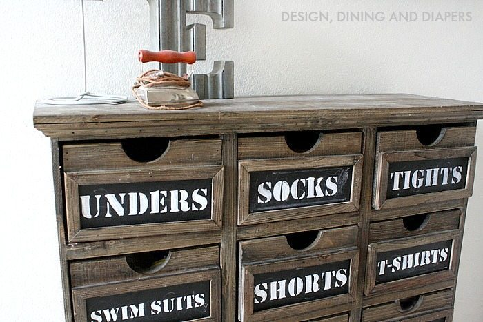 Chalkboard Dresser! Love this idea for a kid's room.