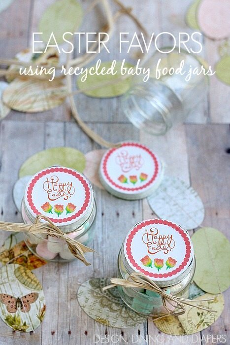 Easter Favors Using Recycled Baby Food Jars!