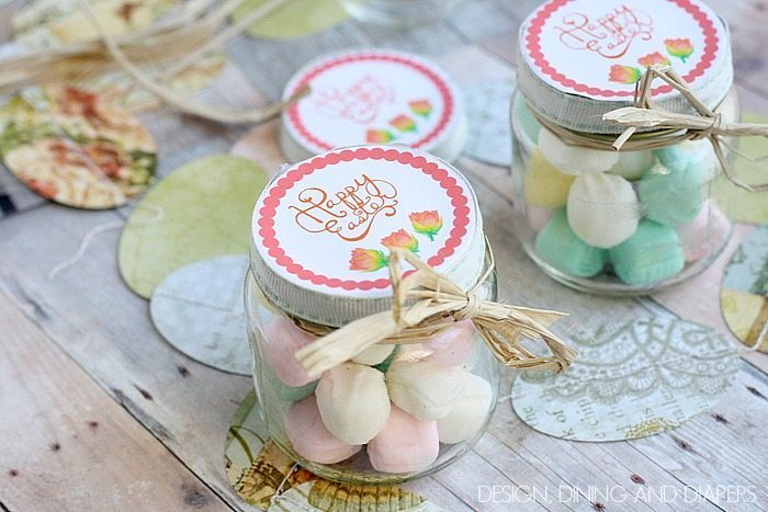 Easy Easter Favors made with recycled baby food jars!