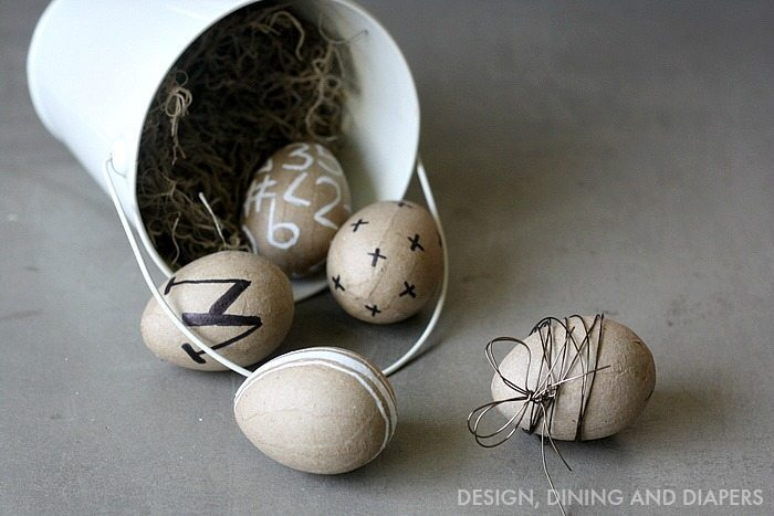 Easy Modern Easter Eggs via designdininganddiapers.com