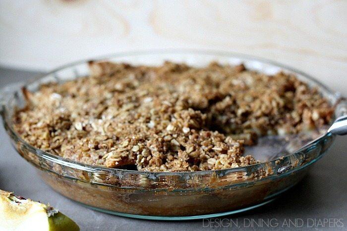 Gluten-Free Apple Crumble Pie