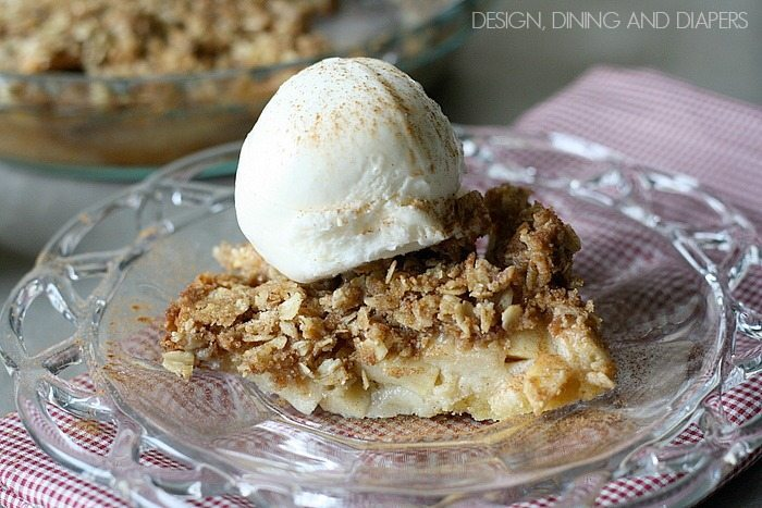 Gluten-Free Apple Crumble Pie. So easy!