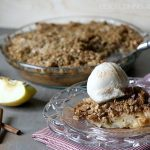 Gluten-Free Apple Crumble Pie. Yum!