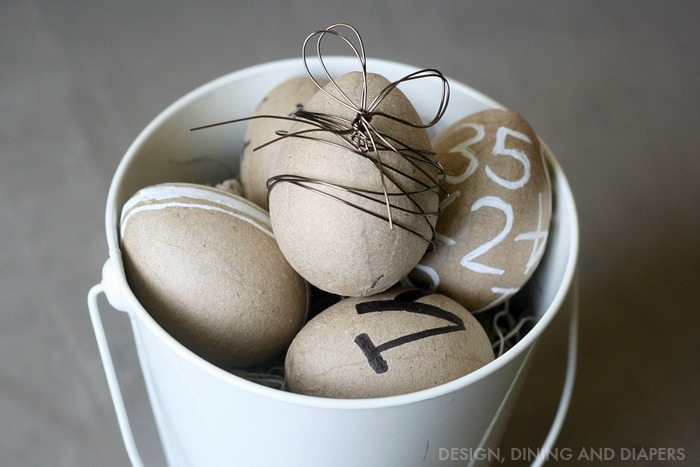 Paper Mache Eggs given a more modern look