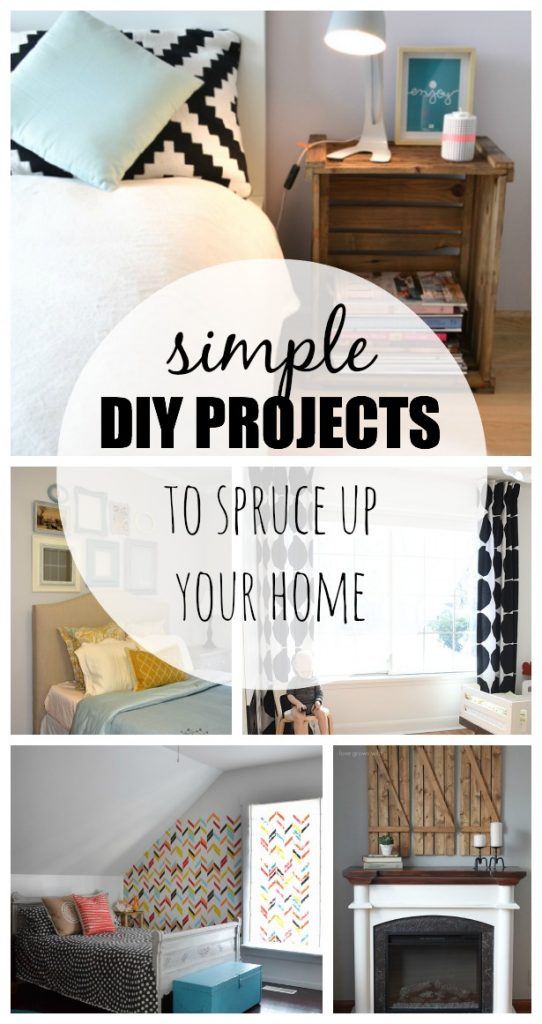 15 simple diy projects to spruce up your home taryn for Simple home improvement ideas