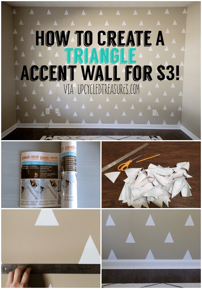 how-to-create-a-triangle-accent-wall-for-3-dollars-upcycledtreasures