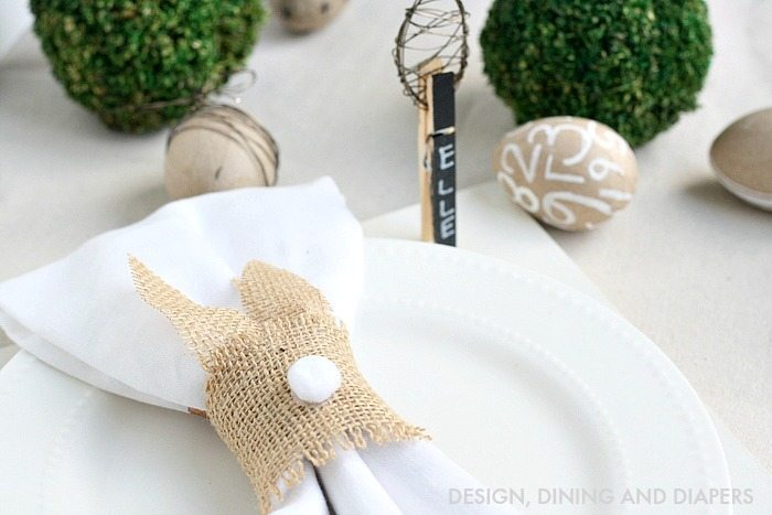 Easter Place Setting - Neutral colors