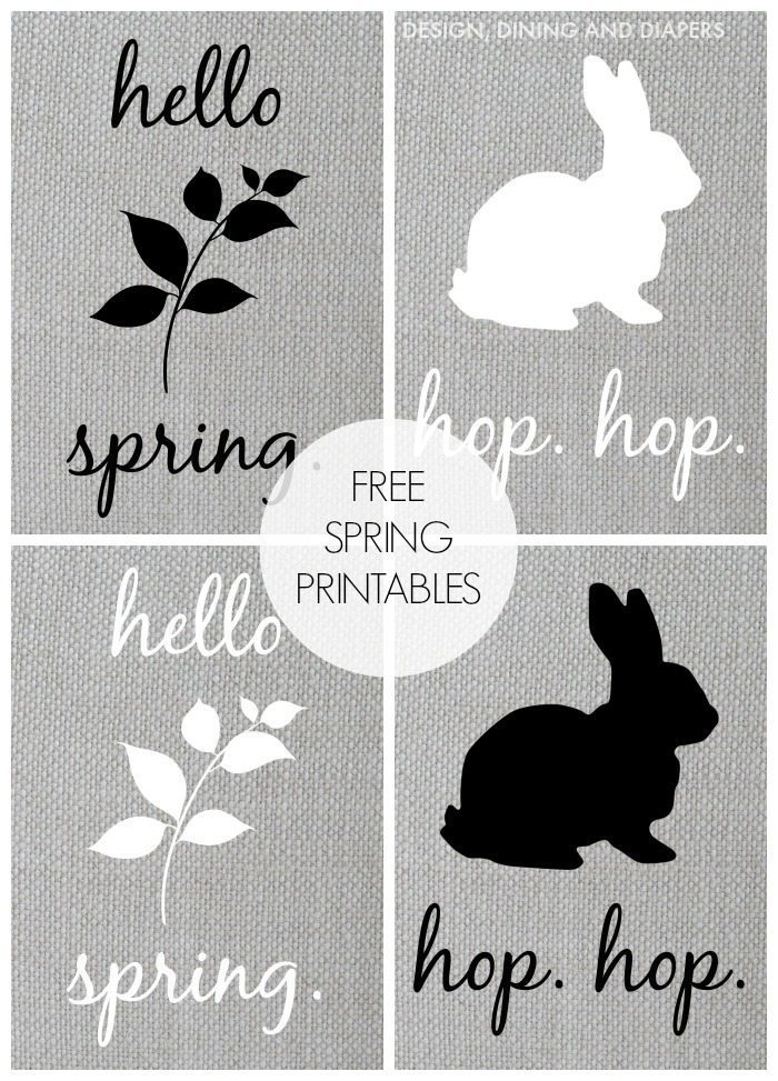 FREE Spring Printables! Love the neutrals.