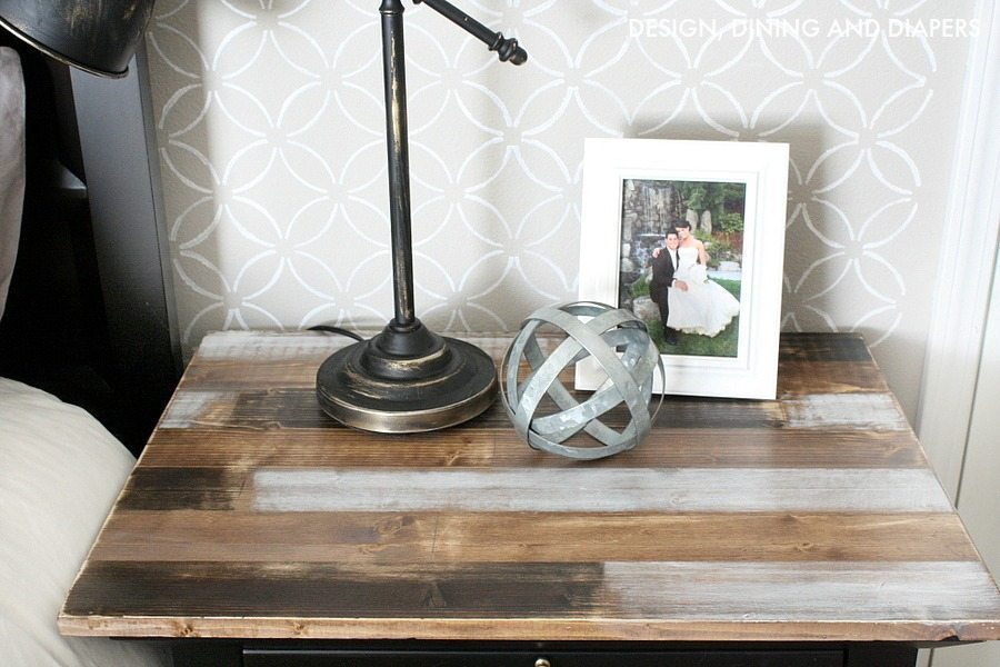 Faux reclaimed wood table top cover!