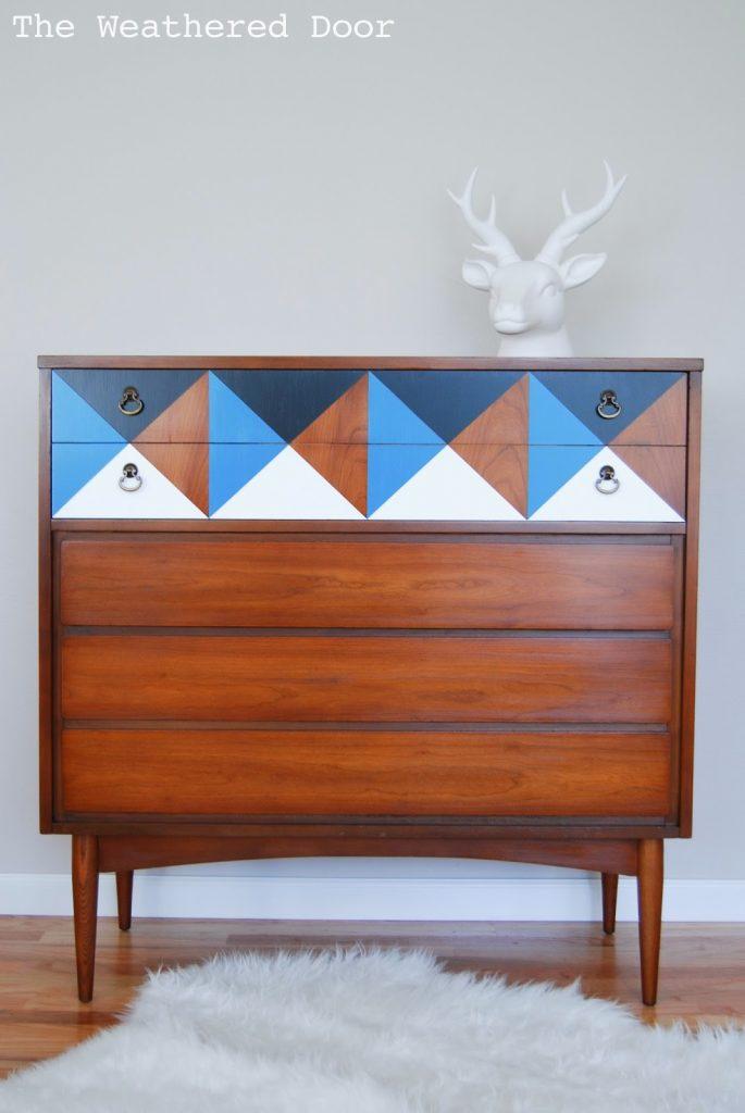 Geometric Mid Century Dresser WD-1