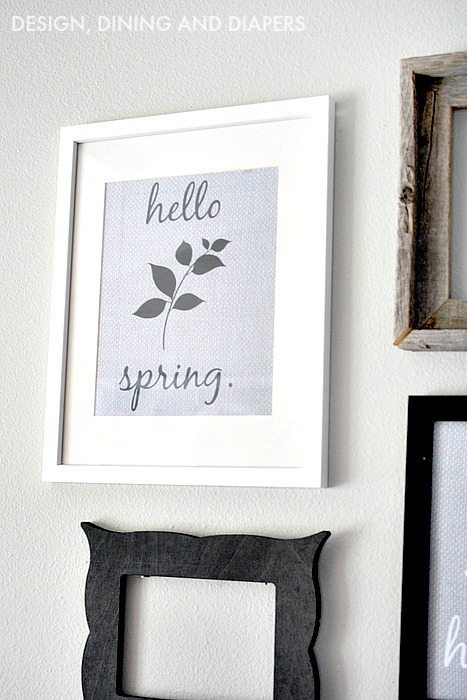 Interchangeable Gallery Wall With Spring Printable - available on the blog