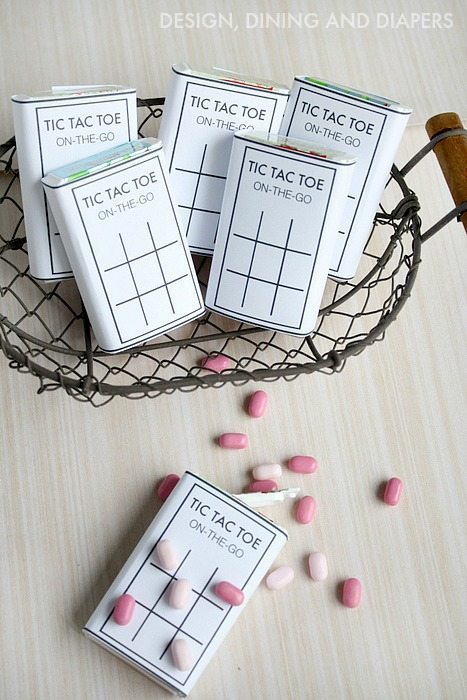 TiC TAC TOE Printables for Tic Tac Packs! These would be fun for a party favor or shopping