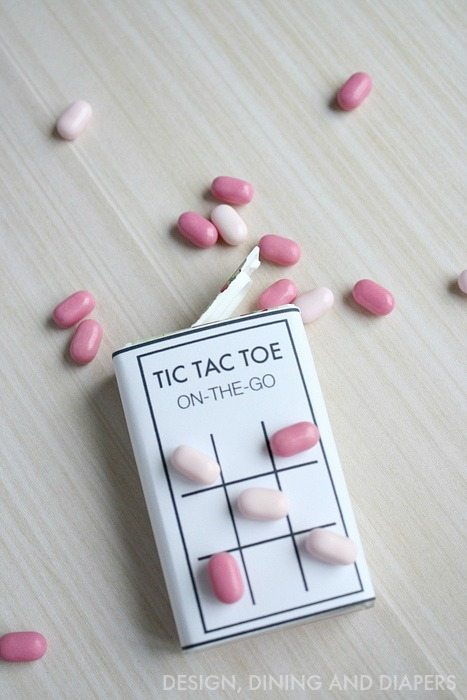 Tic Tac Toe printable for a Tic Tac Pack! Fun idea for a party favor or just entertainment for the kiddos.