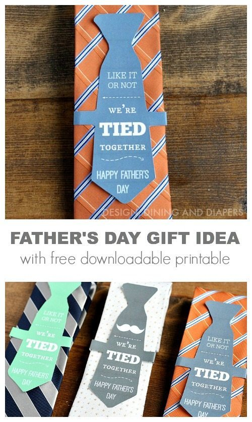 Father's day and gift idea with free download printable.
